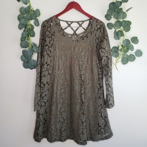 Altar'd State Lace Swing Dress | NWOT | Large